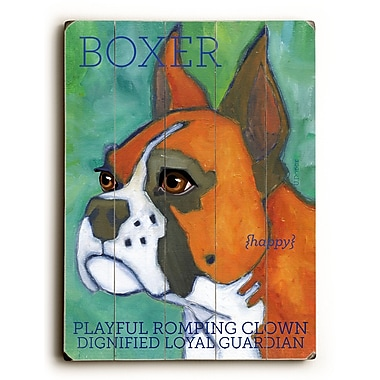Artehouse LLC Boxer by Ursula Dodge Graphic Art Plaque