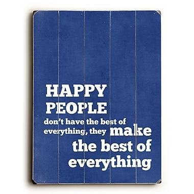Artehouse LLC Happy People by Cheryl Overton Textual Art Plaque