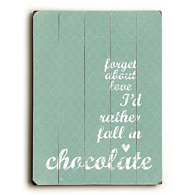 Artehouse LLC Chocolate by Cheryl Overton Textual Art Plaque; Blue