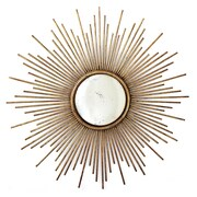 Twos Company  Sunburst  Wall Mirror