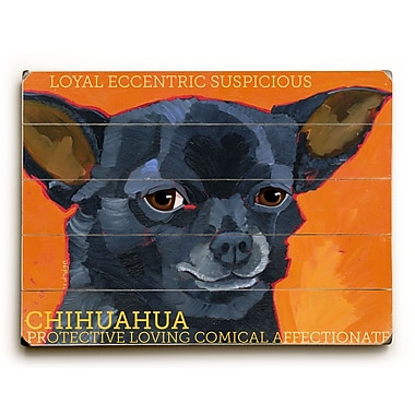 Artehouse LLC Chihuahua by Ursula Dodge Graphic Art Plaque