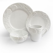 American Atelier Frutta 16 Piece Dinnerware Set; White