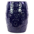 Urban Trends Ceramic Stool; Dark Blue