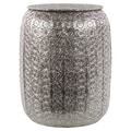 Urban Trends Metal Pierced Metal Stool