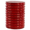 Urban Trends Metal Stool; Red