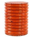Urban Trends Metal Stool; Orange