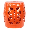 Urban Trends Ceramic Garden Stool; Orange