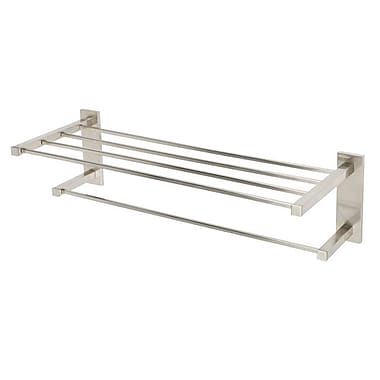 Alno Contemporary II Wall Mounted Towel Rack; Satin Nickel