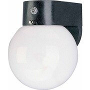Volume Lighting 1 Light Outdoor Wall Sconce; Black