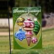 Evergreen Flag & Garden Holiday Ornaments Glass Design Post Christmas Decoration