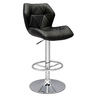 Chintaly Pneumatic Gas Adjustable Height Swivel Bar Stool