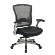 Office Star R2 SpaceGrid Back Eco Leather Office Chair with Flib Arms
