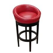 Armen Living Igloo-Kd 26'' Swivel Bar Stool; Red