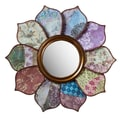 Cape Craftsmen Bohemian Rhapsody Floral Pattern on Pattern Wall Mirror