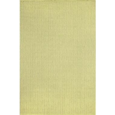 Liora Manne Monterey Green Texture Stripe Indoor/Outdoor Rug; 3'3'' x 4'11''