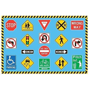 Fun Rugs Fun Time Traffic Signs Kids Rug; 4'3'' x 6'6''