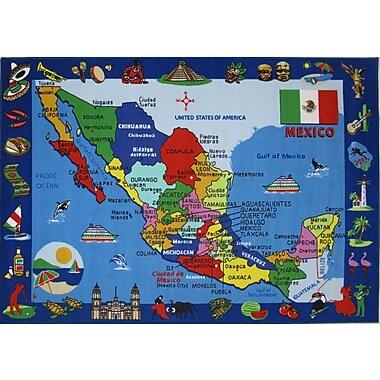 Fun Rugs Fun Time Map of Mexico Kids Rug; 4'3'' x 6'6''