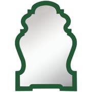 Cooper Classics Faith Wall Mirror; Glossy Cilantro