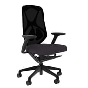 Compel Office Furniture Suit Mesh Task Chair with Arms; Granite