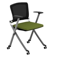 Compel Office Furniture Ziggy Mesh Nesting Chair with Arms; Green