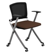 Compel Office Furniture Ziggy Mesh Nesting Chair with Arms; Honeycomb