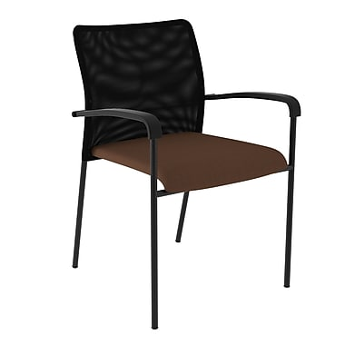 Compel Office Furniture Match Mesh Guest Chair with Quattro Fabric Seat; Honeycomb