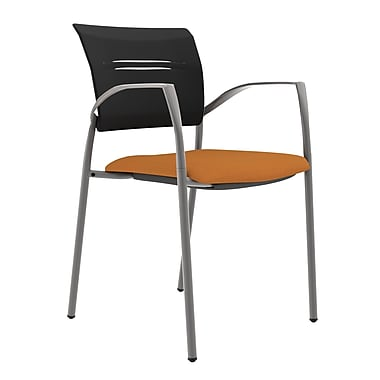 Compel Office Furniture Octiv Guest Chair with Arms; Orange