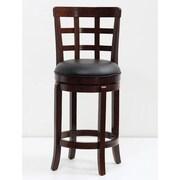 Mochi Furniture Longmont 24'' Swivel Bar Stool with Cushion; Cappuccino
