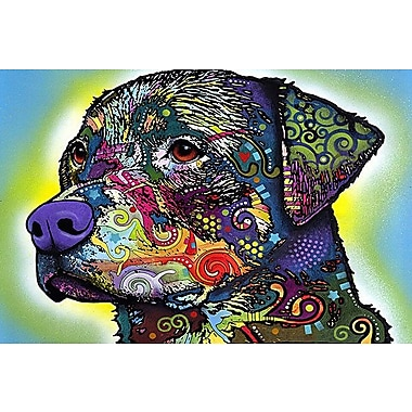 iCanvas 'The Rottweiler' by Dean Russo Graphic Art on Wrapped Canvas; 26'' H x 40'' W x 1.5'' D