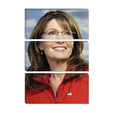 iCanvas Political Sarah Palin Portrait Photographic Print on Canvas; 18'' H x 12'' W x 0.75'' D