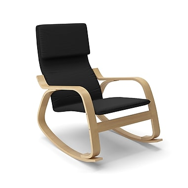 Corliving Aquios Bentwood Contemporary Rocking Chair, Black