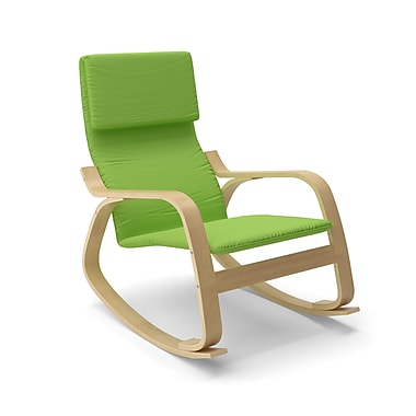 Corliving Aquios Bentwood Contemporary Rocking Chair, Apple Green