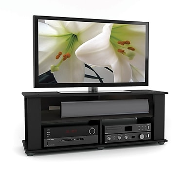 Corliving Tbf-604-B Bakersfield TV/Component Stand, Ravenwood Black