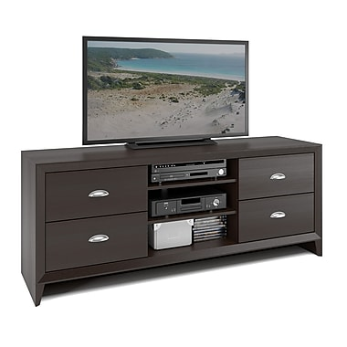 Corliving Tek-583-B Kansas TV Bench, Espresso Finish