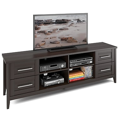 Corliving Tjk-682-B Jackson Extra Wide TV Bench, Espresso Finish