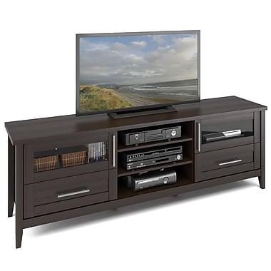 Corliving Tjk-687-B Jackson Extra Wide TV Bench, Espresso Finish