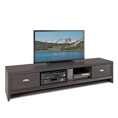 Corliving - Banc de téléviseur Tlk-872-B Lakewood très large, fini wenge moderne