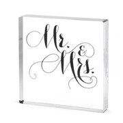 "HBH™ 4"" Mr. & Mrs. Elegant Cake Top, Clear"