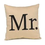 "HBH™ 12"" x 12"" ""Mr."" Throw Pillow, Linen/Black"