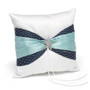 "HBH™ Treasures From The Sea 8"" x 8"" Ring Pillow, White"