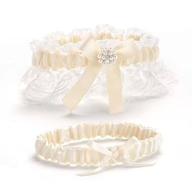 HBH™ Splendid Elegance Toss and Keep Garter Set, Ivory