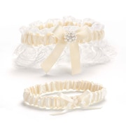 HBH™ Splendid Elegance Toss and Keep Garter Set, Ivory