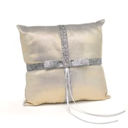 "HBH™ Metallic Sparkle 8"" x 8"" Ring Pillow, Gold Mettalic"