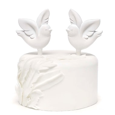 HBH™ 5 1/4in. Love Bird Cake Pick Set, White