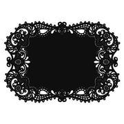 "HBH™ 17 1/2"" x 12 1/4"" Place Mat With Laser-Cut, Black"