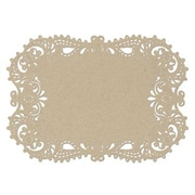 "HBH™ 17 1/2"" x 12 1/4"" Place Mat With Laser-Cut, Kraft"