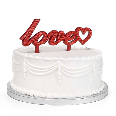 HBH™ 7 1/2in. Love Bling Cake Pick With Reflective Accents, Red
