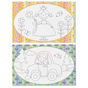 "HBH™ 17"" x 11"" Coloring Party Place Mat Set"