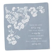 "HBH™ 14"" x 14"" In Loving Memory Cotton Hanky, Gray"
