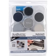 Colorfin PanPastel® 9 ml Ultra Soft Artists Painting Pastel Set, Grays, Grime And Soot